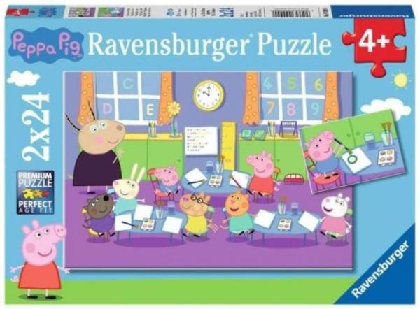Puzzle 2x24elementy Świnka Peppa i cała klasa (09099)