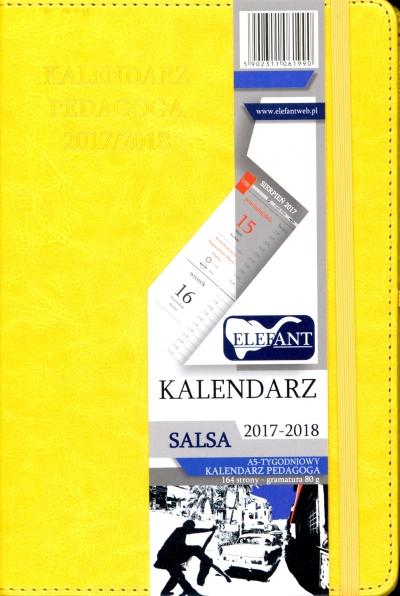 Kalendarz pedagoga Salsa żółty A5 tyg. 2018 .