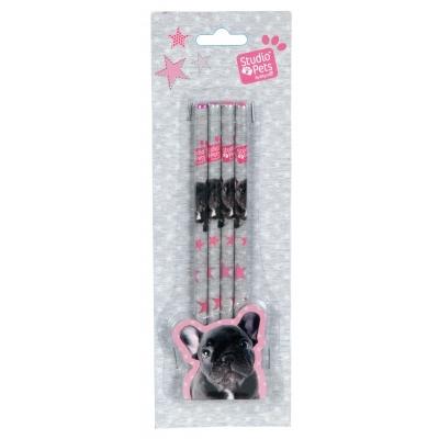 Zestaw 4 ołówków Studio Pets PEI-9044