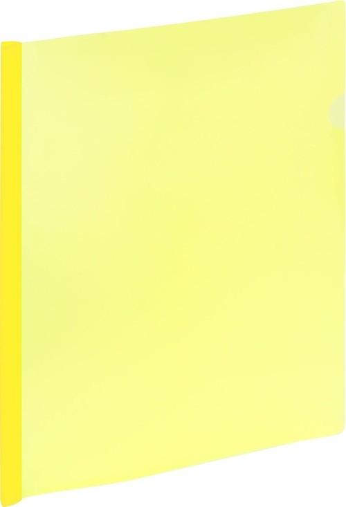 Skoroszyt A4 zaciskowy 9111 żółty