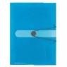Teczka rysunkowa A4 z gumką Niebieska transparentna