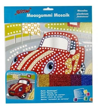 Mozaika piankowa brokatowa Wyścigówka