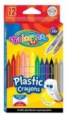 Kredki plastikowe wymazywalne 12 kolorów (91992PTR)