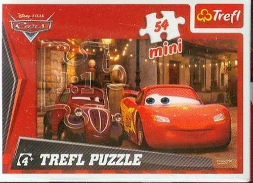 Puzzle mini 54 Auta Zygzak czerwony (19399)
