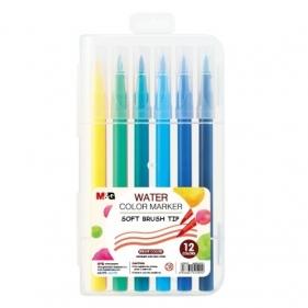Flamastry pędzelkowe M&G, 12 kolorów (MG ACP92167)