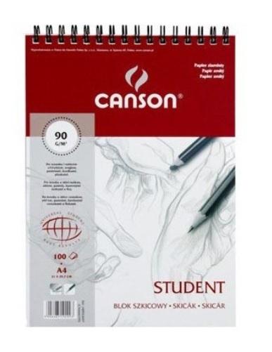 Blok rysunkowy Canson A4 na spirali(6666-195)