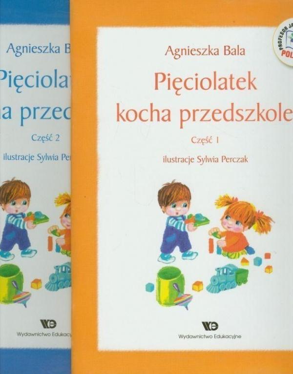 Pakiet - Pięciolatek kocha przedszkole cz.1-2 WE Agnieszka Bala