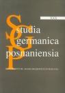 Studia Germanica Posnaniensia XXX
