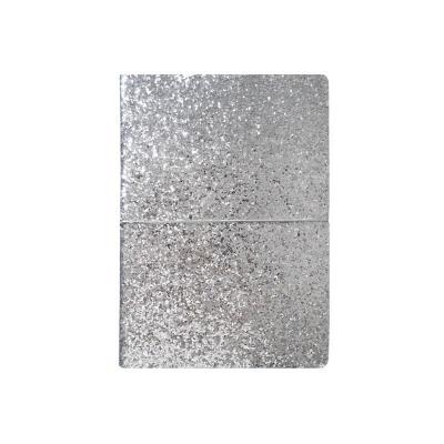 Notes A5/96K srebrny brokat