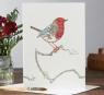 Karnet A049 B6 + koperta Ptak rudzik