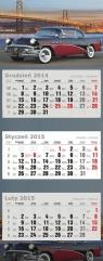 Kalendarz trójdzielny duży 2015 Samochód