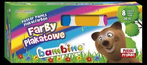 Farby plakatowe Bambino 20 ml 8 kolorów