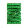 Klamerki brokatowe zielone, 8 szt (CEOZ-105)