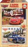 Auta CARS drewniane puzzle dla dzieci 2 x 25 elementów