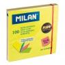 Karteczki samoprzylepne MILAN FLUO, 76 x 76 mm w 4 kolorach w osobnych