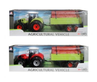 Traktor z przyczepa dźwiękiem MIX (Q5374)