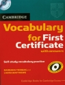 Cambridge Vocabulary for First Certificate with answers z płytą CD  Thomas Barbara, Matthews Laura