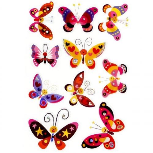 Naklejka foliowe 3D - motyle (389892)