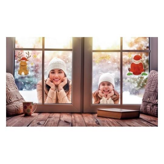 Naklejki na okno Z Design - Mikołaj i renifer (52299)