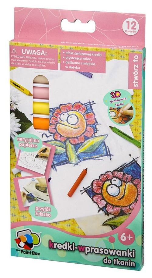 Kredki-wprasowanki do tkanin 12 kolorów (6099)