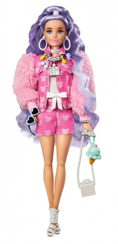 Lalka Barbie Extra Fioletowe fale (GRN27/GXF08)