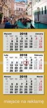 Kalendarz 2018 trójdzielny LUX