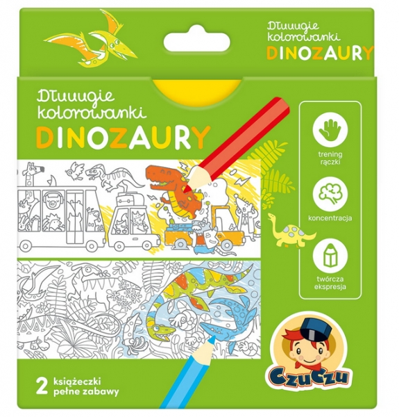CzuCzu. Dłuuugie kolorowanki - Dinozaury