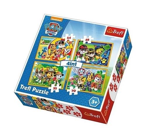 Puzzle 4w1: Psi Patrol Zawsze na czas (34307)