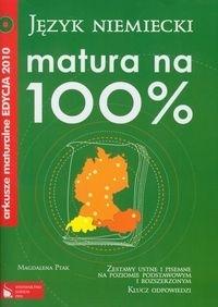 Matura na 100% Język niemiecki Arkusze maturalne 2010 z płytą CD Ptak Magdalena