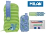 Multipiórnik MILAN owalny z 4 piórnikami COCONUT zielony