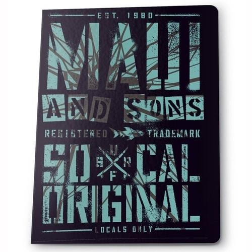 Zeszyt A5 w kratkę 60 kartek Maui and Sons zielono-czarny 5 sztuk